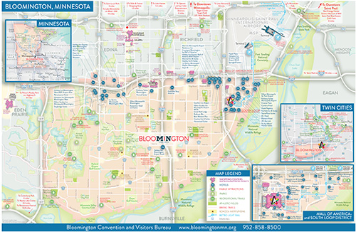 bloomington minnesota map hotels near msp airport mall of america