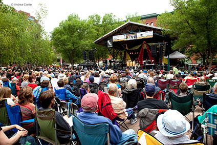 Twin Cities Jazz Festival in Mears Park, St. Paul, MN